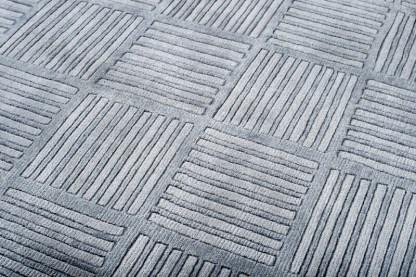 Tappeto di lana 100% mod.Indo Grigio 190x290