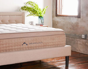 DreamCloud's Stylish Bed Frame With Headboard