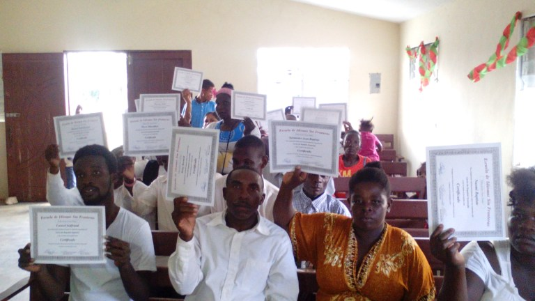 About 40 people graduated with Pastor Misael School literacy
