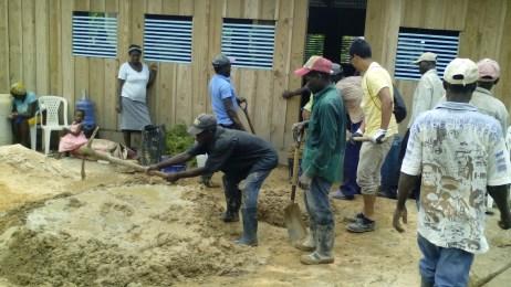 Construction in Juancho Baptist Church
