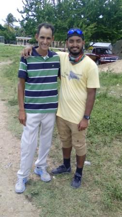 Ruddy Carrera and his missionary friend David
