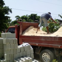 Construction work in the Baptist Church of La Colonia.