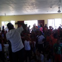 Service with children in Enriquillo.