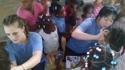 Bible class for children in Pedernales, day 3