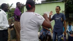 Preaching to a South Lady, who had a long time without seeing her family.