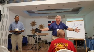 Don Eckard spoke to the pastors