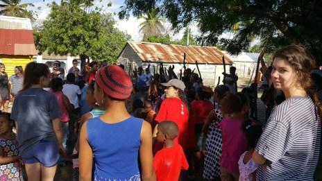 Ministry with children in Salina de Barahona