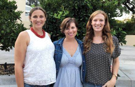 "Photo courtesy Westridge School ""American Home"" director Kate Woodruff, playwright Stephanie Alison Walker and producer/stage manager Betsy Roth."