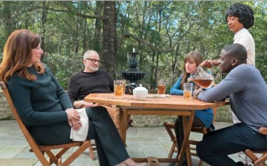 "Photo courtesy NBCUniversal Catherine Keener, Bradley Whitford, Allison Williams, Betty Gabriel and Daniel Kaluuya star in ""Get Out."""