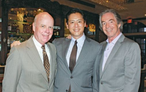 "OUTLOOK photo Bill Podley, Brent Chang and Gregg Smith were among those who attended a previous ""Stars for Tomorrow"" annual benefit. This year's fundraiser will be held Thursday evening, Sept. 20, at a Pasadena estate."