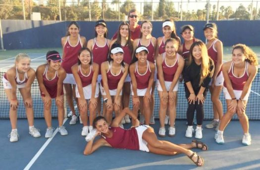 Photo courtesy LCHS Athletics The La Cañada High School varsity girls' tennis team is one win away from playing its first CIF Southern Section championship match since 1978. The squad, accompanied by head coach Will Moravec, includes Sonia Bhaskaran, Ashley Chun, Tsehay Driscoll, Eliana Hanna, Marlene Hess, Annabelle Kevakian, Kristy Kim, Stacey Kim, Anabel Massabki, Solenn Matuska, Sophia McKenzie, Artis Phillips, Sarah Pyne-Jaeger, Sophia Razavi, Natalie Son, Lisa Sun, Maya Urata, Maya Vasisht, Sydney Wang and Elise Wu.