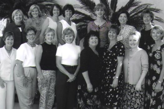 Photo courtesy LCPC Parent Education The 25th anniversary reunion for LCPC Parent Ed. in 2003 attracted a crowd at Pasadena's Brookside Golf & Country Club that included Liz Young (front row, from left), Robin Brown, Sharon Barker, Sandy Ravana, Lisa Phelan, Melanie Frey and Nancy Stoner. Back: Marilyn Langsdorf, Karen Young, Mary Emily Myers, Susanne Horne, Claudia Zentmyer, Christine Holmquist and Melissa Schiller.