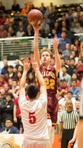 Photo courtesy Eric Danielson Sophomore Ryan Grande scored 11 points in the Spartans' 67-55 loss against San Diego Cathedral Catholic in the state playoffs on Tuesday.