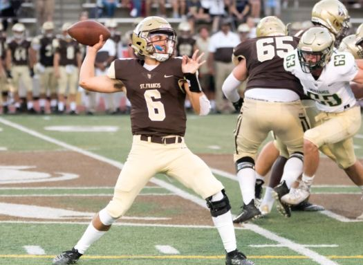 SFHS quarterback Jack Clougherty threw two touchdowns in his debut.