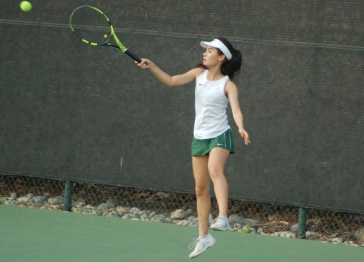 Eleanor Leiter helped the Tigers take the lead with a doubles victory.