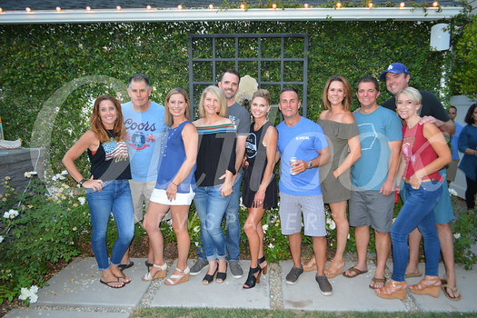 Party hosts include Juliet and Dave Cullen, Tiffany Ringel, Dorey and Greg Huston, Tracy and Charlie Smith, Heather and Mark Masto, and John and Tina Gocke. Not pictured: Steve Ringel.