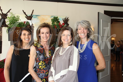 Luncheon co-chairs Savonia Angelica and Patti Kriste (center) are flanked by Sweet Shoppe co-chairs Kim Kessler and Laura Buchanan.