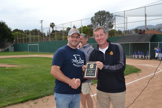 Rod Boerger Award recipient John Winnek with Joe Radabaugh