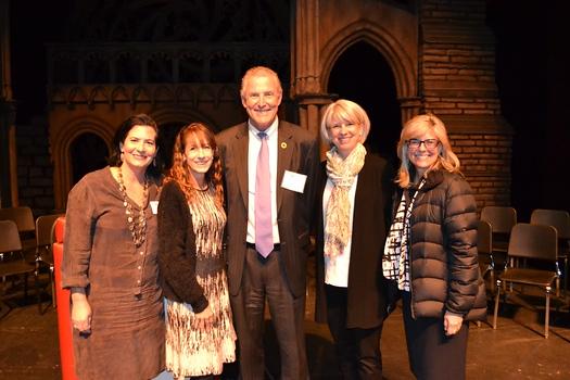 PTA recipients: PTA President Lisa Dick, Betsy Asher Hall, Dan Jeffries, Melissa Mazin and Superintendent Wendy Sinnette.