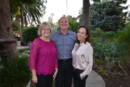 AbilityFirst CEO Lori Gangemi with hosts Mark and Phaedra Ledbetter