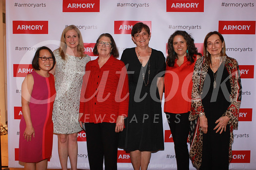 Armory Executive Director Leslie Ito with board members Tammy Godley, Katharine Harrington, Linda Burrow, Catherine Arias and Gale Kohl, who also served as the event's organizer