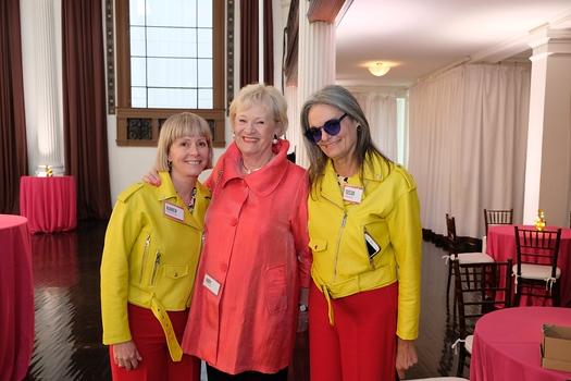 Karen Hillenburg, patron co-chair Judy Plunkett and Susan Crawford