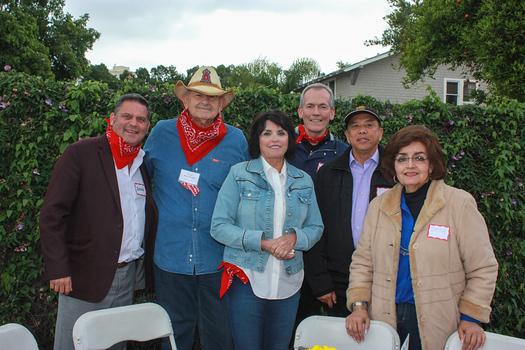 David Dicken, Steve and Kathy Novarro, Lee McFarland, Rafael Reynoso and Dora Gomez