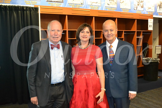 Guest speaker Dr. John Link with hosts Linan and Bill Ukropina