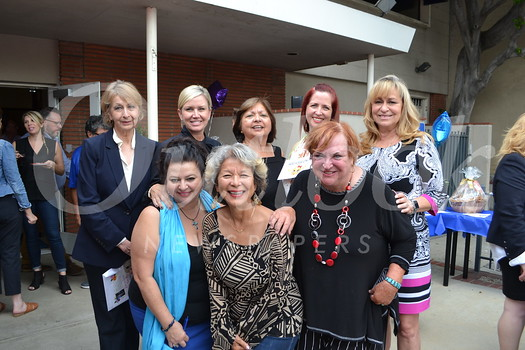 Diana Nikolof (front row, from left), Barbara Richardson King and Rosie Bell. Back: Rose Marin, Kelli Pastula, Sandy Arellano, Marisa Cosby and Lori Ramirez.