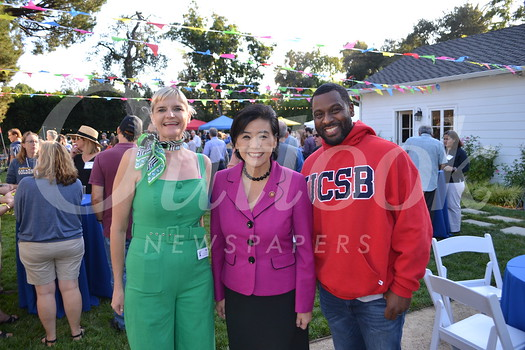 Executive Director Mo Hyman, Congresswoman Judy Chu and Board President Lawayne Williams