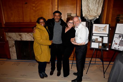 Linda Owens, John Jackson, and Laura and Cliff Muller