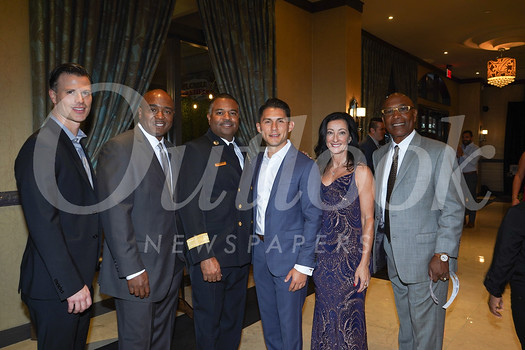Brandon Road, Willie Wright, Fire Chief Bertral Washington, Pasadena Fire Foundation board chair Daniel Arias, gala chair Carla Buigues and James Nash