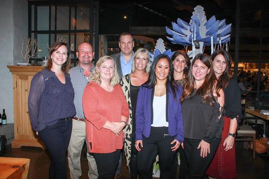 Michele Van Buren (front row, from left), Uyen-Uyen Vo and Katie Bolton. Back: Alison Stewart, Dan Harper, David Hitchcock, Holly Breckheimer, Melissa Corrente and Ava Herrera.