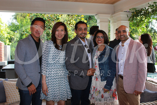 William and Sandy Luong, Frank Franco, Claudia Menendez and Dicky Shah