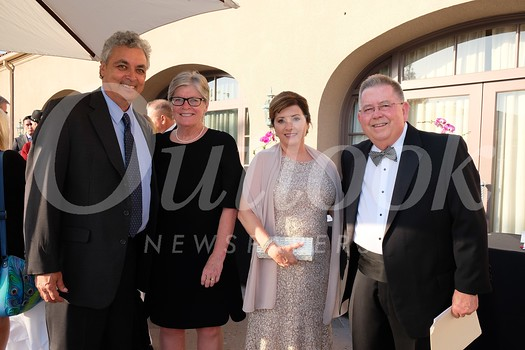 Pasadena Chamber of Commerce President/CEO Paul Little and Laurie Bollman Little with Elizabeth Ellison Bird and Pasadena Chamber of Commerce board chair-elect Karl Bird