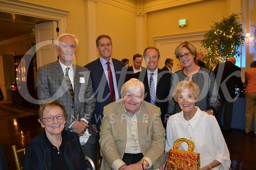 Jill Polosy (seated, from left) with Russ and Sally White. Back: Hank Yost, Paul Johnson, Dr. Howard Kauffman and Jane Haderlein.