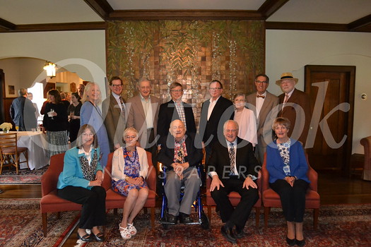 Past award recipients include (front row, from left) Sue Mossman, Ellen Knell, Dr. Robert Winter, Harvey Knell and Claire Bogaard. Back: Ann Scheid, Ted Bosley, John Ripley, Tim Gregory, Peyton Hall, Mic Hansen, Jim Ipekjian and Bill Ellinger.