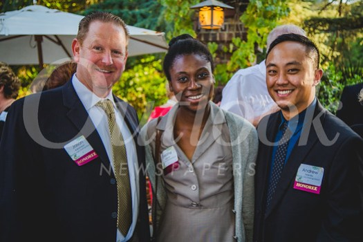 Honorees from Trader Joe's Hastings Ranch: Jason Aaronson, Eseohe Agboh and Andrew Manilla