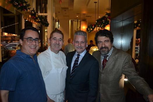 Greg McLemore, Chef Gil Saulnier, Steve Mulheim and manager Ed Mamigonian