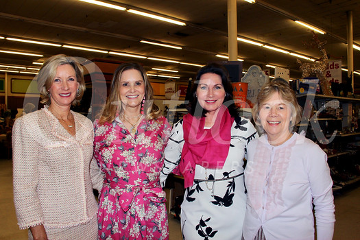 Guild President Sarah Shelton (second from right) is surrounded by event co-chairs Kelly Rouse, Annie Higgins and Hilary Dorsey