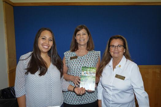 Clairbourn School: Sayra Rubio, Karen Paciorek and Lee Rankin