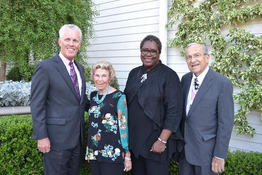Scott Jenkins, honoree Rary Simmons, Senior Center Executive Director Akila Gibbs and board President Joe Zeronian