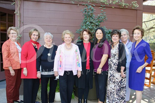 Hostesses Brenda Baity, Lynn Van Dam Cooper, Gloria Koeppel, Sharla Durant, Maren Kopp, Migum Gweon, Ann Beeson-Leal, Ewa Nyczak and Sue Shieff