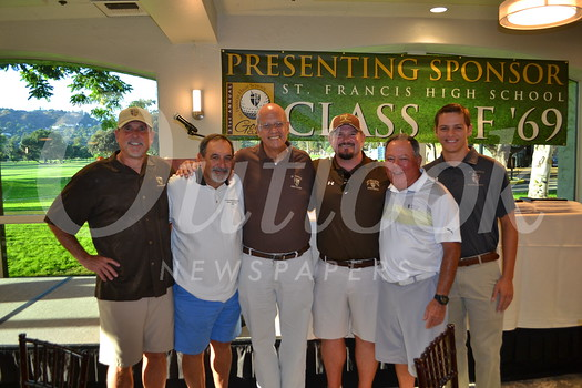 Mark Heydorff, John Orlandini, Father Tony Marti, Kevin Danni, Rodney Terrazone and Austin Heberger. Marti is the school's president.