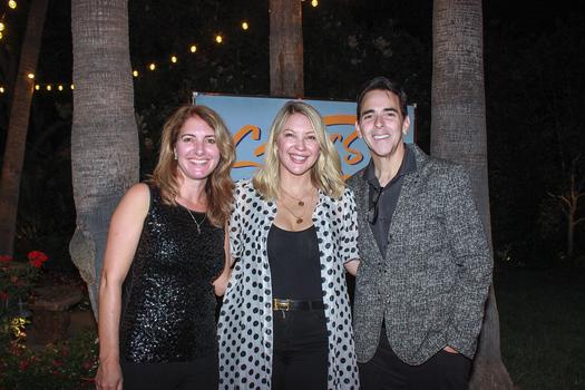Executive Director Nancy Stiles with hosts Christina and Steve Streit