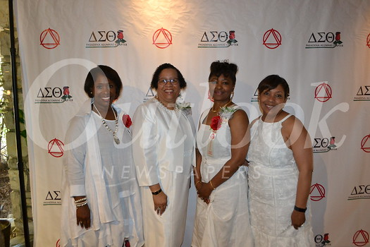 Co-chair Deborah Williams, Pasadena Delta Foundation President Debra Ward-Samad, President of the Pasadena Alumnae Chapter Lynnette West-Cater and event co-chair Hilarie Dyson Green