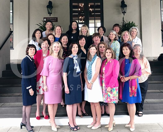 Event committee: Valerie Gumbiner Weiss (front row, from left), Jane Laudeman, Connie Knott, Evelyn Boss, Mary Falkenbury and Patricia Tom Mar. Second row: Mona Mapel, Helen Kim Spitzer, Janice Conzonire and Kathy Vine. Third row: Ellen Chiechi, Ann Kunitake, Janet Orswell, Ann Boutin and Pam Osgood. Fourth row: Karen Quon, Avery Barth, Kathy Bayle, Julie Wong Tam, Suko Gotoh and Vicki Elliott. Back: Lynn Hatashita-Jung and Vivian Chan. Not pictured: Sallie Determan, Leigh Olivar, Patricia Libby Thvedt and Karen Wicke.