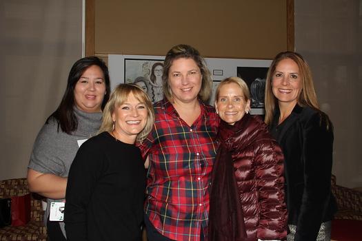 Ericka Giordano, Michelle Brooks, luncheon chair Patti Pascale, Katie Marsh and Denna Sanchez