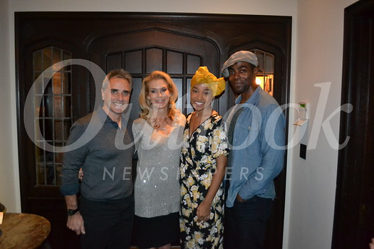 "Hosts Brad and Pam King with ""Ragtime"" stars Bryce Charles and Clifton Duncan"