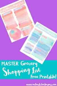 Menu Planning Free Printable | Homeschool Meal Plan | Weekly Meal Plan | Master Grocery List